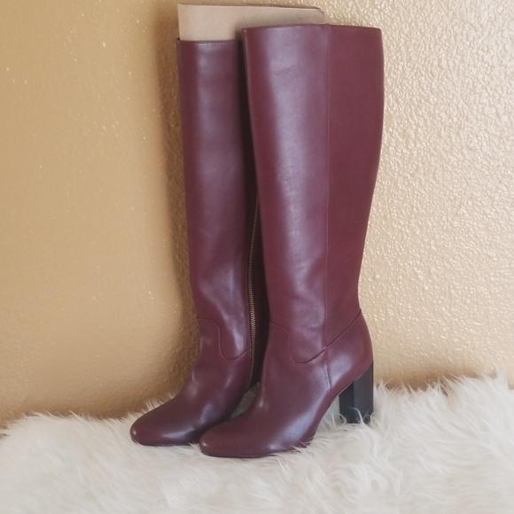 Michael Kors Walker Burgundy Leather